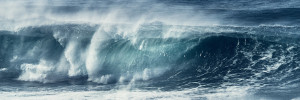 abstract fine art image of a wave on the atlantic ocean