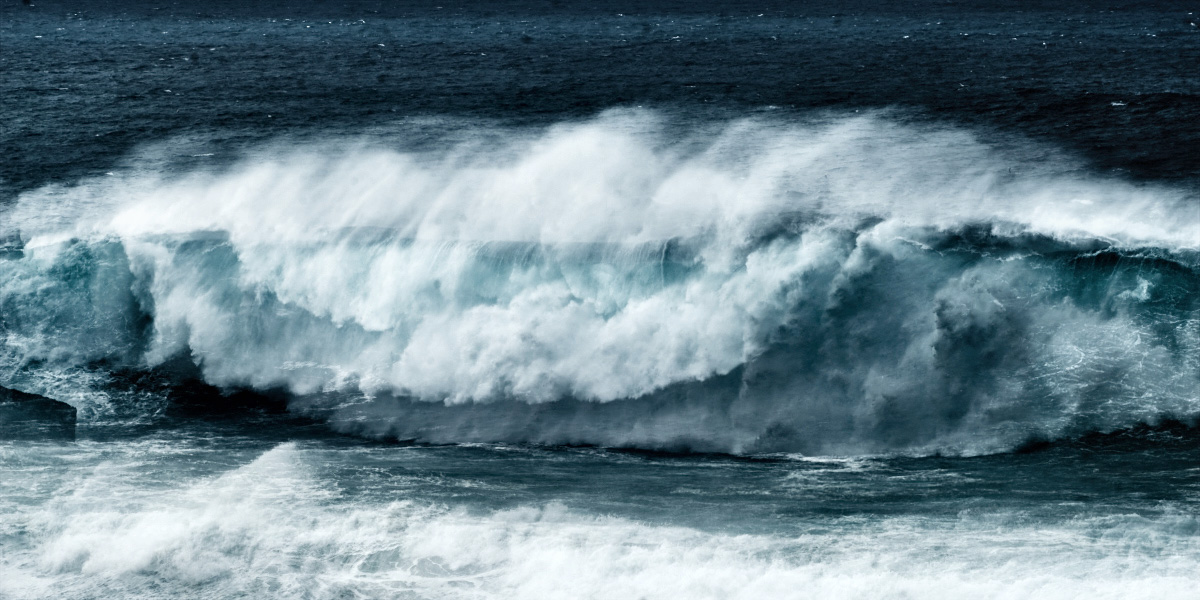 fine art abstract photo of a wave in Nazarè along the coat of the Atlantic ocean in Portugal