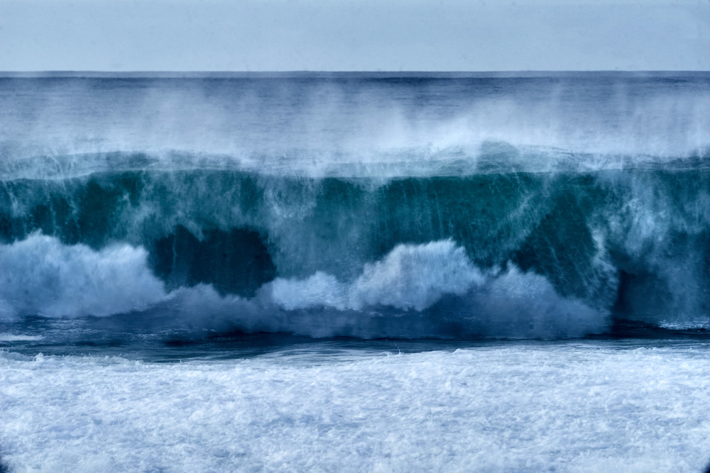 fine art photo of a wave in the Atlantic ocean taken on a multiple exposure