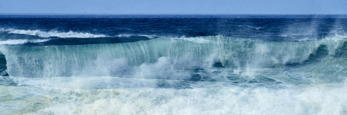 abstract fine art image of a wave in the Atlantic ocean in Portugal