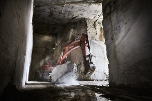 fine art corporate industria photography of a marble quarry in Massa Carrara, Tuscany