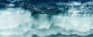 fine art seascape of a wave taken in multiple exposure as an abstract romantic painting