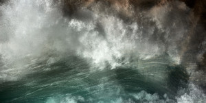 Abstract fine art photography of the Atlantic ocean in Portugal in Alentejo along the Costa Vicentina