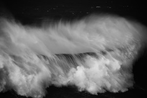 fine art black and white seascape taken in Nazarè, Portugal