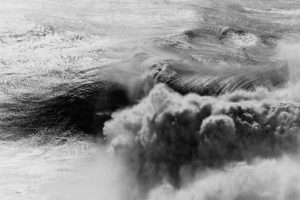big wave black and white fine art image taken in Nazaré