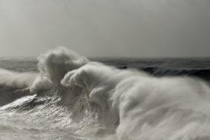 A huge wave in Nazaré, Portugal